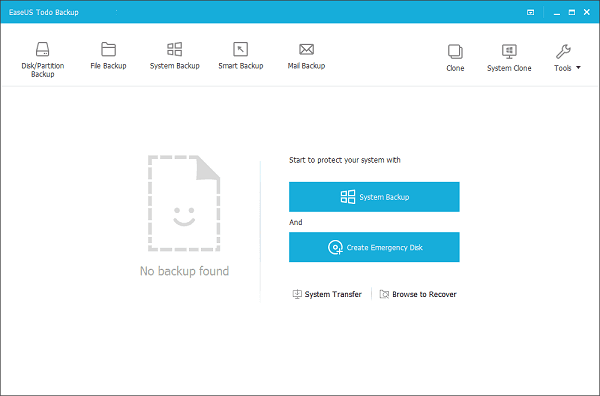 Disk and Partition Backup Software, EaseUS Todo Backup