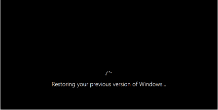 restoring your previous version of windows anuvrat info