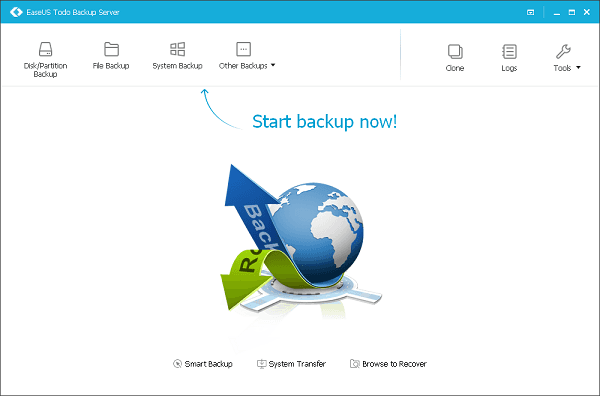 Migrate a server to new hardware with recover to dissimilar hardware of EaseUS Todo Backup