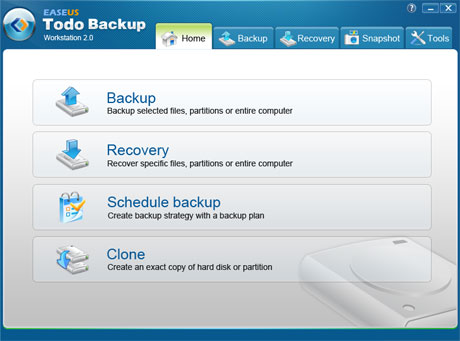 ������ ��� ���� �������� ������ EASEUS Todo Backup 1.1